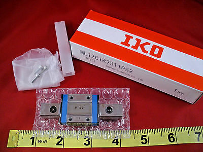 IKO ML12C1R75T1PS2 Linear Slide Bearing Guide Rail ML 12 C1 R75 T1 P S2 75mm New