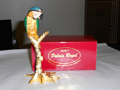 Juju Palais Royal Collectable Parrot Figurine Swarovski Crystal Elements