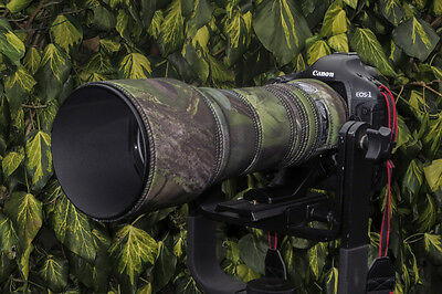 Tamron 150 600mm camouflage neoprene lens coat protection cover : Green camo