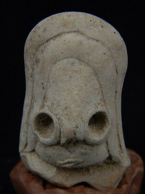 Ancient Teracotta Mother Goddess head Indus Valley 2000 BC NO RESERVE  #TR15239