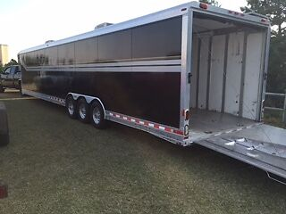 46 ft Gooseneck Enclosed Car Trailer