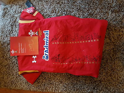 limited edition 16/17 signed welsh rugby shirt