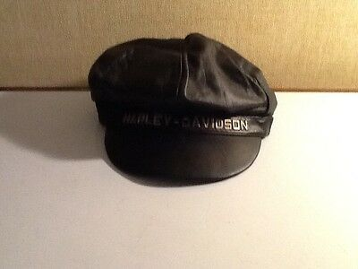 Vintage Harley Davidson Leather Hat Mens