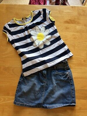 Girls 5-6 Yr Top And Skirt