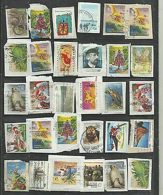 AUSTRALIAN territories  used on paper HIGH CATALOGUE 8 SCANS bargain 6/12
