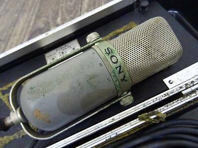 Vintage Sony C-37P Condenser Microphone For Parts Or Repair