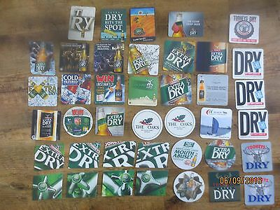 40 different TOOHEY,S DRY / EXTRA DRY BEERS Issue collectable COASTERS