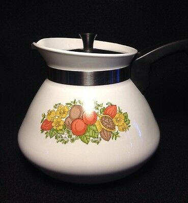 Corning Ware Vintage Spice of Life 6 cup Tea Pot