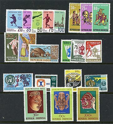 Indonesia #823//846 (IN648) (8) Complete 1972-1973 Sets, MNH, FVF, CV$73.85