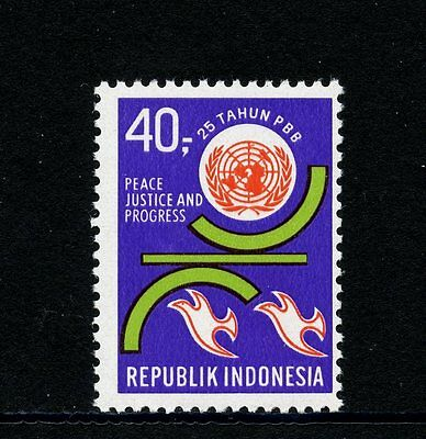 Indonesia #794 (IN335) Complete 25th Anniversary of United Nations, MNH, FVF