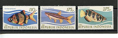 Indonesia #1207-1209 (IN320) Complete 1983 Tropical Fish Issue, MNH, VF
