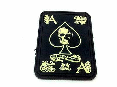 Ace Of Spades Biker Glow In The Dark Airsoft PVC Patch