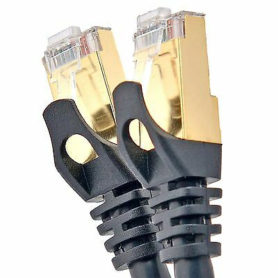 CAT6A 10cm-30m FTP RJ45 Professional Black White Shielded Network Cable Lead