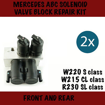 Mercedes ABC (Active body control) 2x Valve block repair kits , W220 ,W215,R230