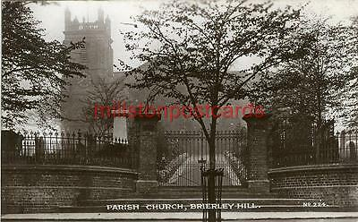 Real Photographic Postcard Parish Church Brierley Hill, Staffordshire John Price