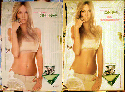 BRITNEY SPEARS Believe 2xMINI POSTER Russia Russian edition cosmopolitan SEXY