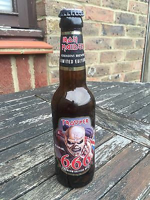 Iron Maiden Trooper 666 Beer Limited Edition Empty 330ml Bottle
