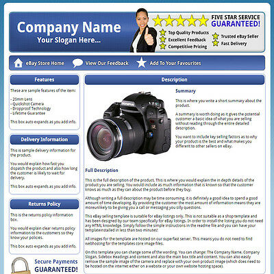 ProCorp - Easy and Static eBay Listing HTML Product Template