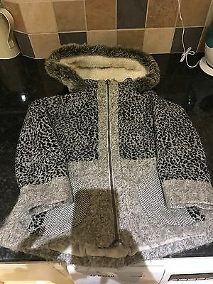 Girls Next Coat Age 4-5 Great Condition Grey