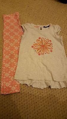 Girls Legging And T-Shirt Outfit 4-5 Yr Old