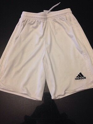 Youth White Adidas Soccer Shorts Size Small Clima Cool