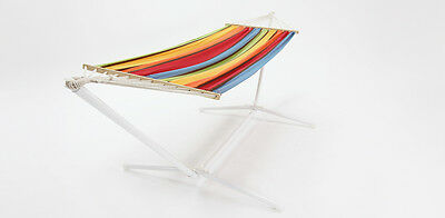 Caterina hammock multicolour with white steel stand