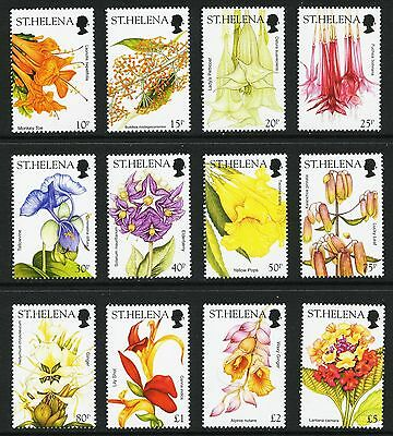Saint Helena 2003 Sg 893/904 Flowers Full Set To £5 Superb Unmounted Mint/mnh.