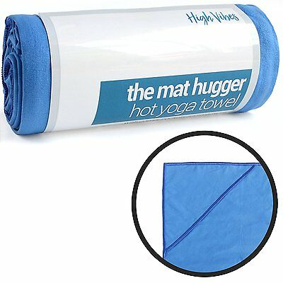 """Hot Yoga Towel by High Vibes (24""""x72"""") With Corner Pockets & Non-Slip Microfiber"""