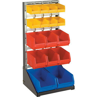 Matlock 924X457Mm D/S Free Standing Louvre Rack D/Gy,L/Gy