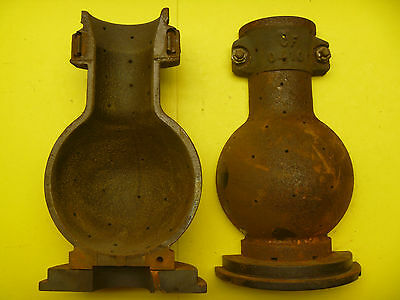 Heavy Obsolete  Cast Iron Foundry Incandescant Light Bulb Mold