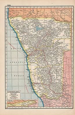 1920 Map -Post Ww1- South West Africa (Protectorate)