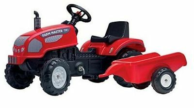 Falk Pedal Tractor and Trailer Ride On Farm Master Kids Boys Garden Toy in Red