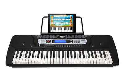 54 Key Portable Digital Piano Keyboard with Music Stand & Interactive LCD Screen