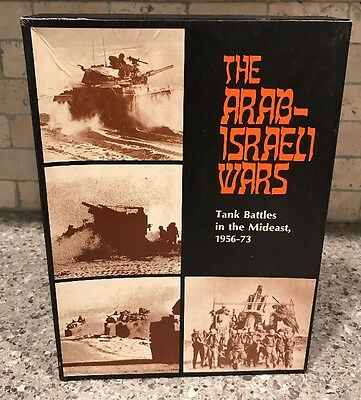 Arab-Israeli Wars 1956-73 Tank Battles 1977 Avalon Hill Strategy Game Unpunched
