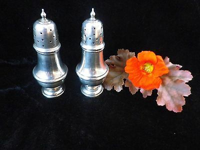 2 sterling silver pepperettes, hallmarked pepper shakers, Birmingham 1919