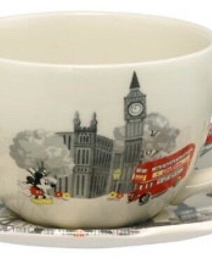 Cath Kidston Disney Mickey In London Breakfast Cup and Saucer