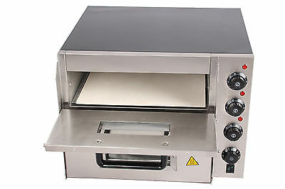 Twice Layer Deck Stone Stainless Front Electric Commercial Baking Pizza Oven Wty