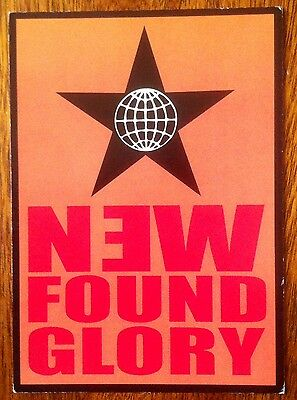 "New Found Glory 2001 6 x 4"" postcard printed in USA--New! Unused! Unposted!"