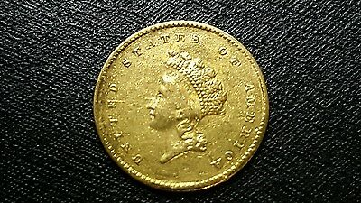 1854 U.s. Type 2 One Dollar Gold Coin L@@k..