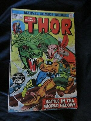 """OLD!! 1975 Comic Book: """"The Mighty Thor"""" (Battle in the World Below!) #238"""