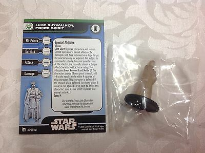 star wars new in bag with stat card ultra rare Luke Skywalker force spirit #36