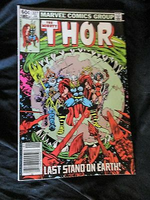 """OLD!! 1983 Comic Book: """"The Mighty Thor"""" (Last Stand on Earth!) #327"""