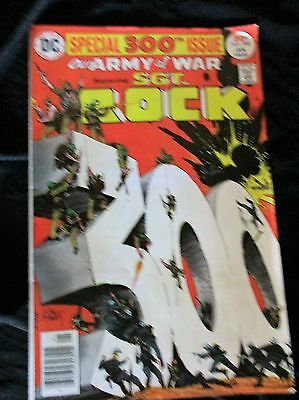 "OLD! 1977 Comic Bk: ""Our Army at War Featuring Sgt. Rock"" 300th issue"