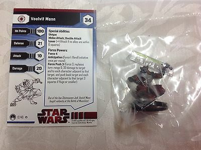star wars new in bag with stat card ultra rare Voolvif Mong #12
