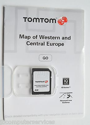 TomTom GO SD Card - Map of Western and Central Europe