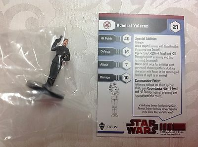 star wars new in bag with stat card ultra rare Admiral yularen #16