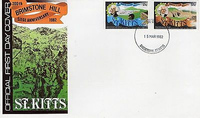 1982 St Kitts Brimstone Hill Siege Anniversary Unposted Fdc From Collection A6
