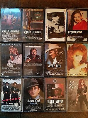 Lot of 12 cassettes COUNTRY WESTERN