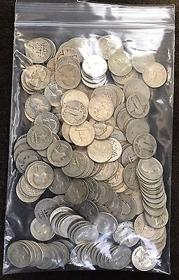 $50 Face Value(200) 90% Silver US Quarters Includes-Wash., Barber, Stand Liberty