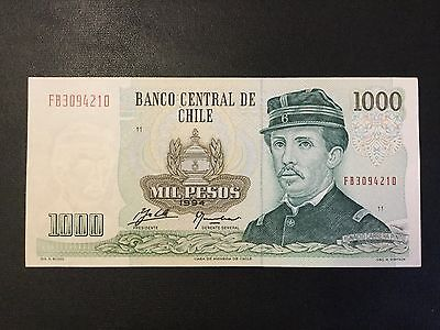 1994 Chile Paper Money - 1,000 Pesos Banknote !